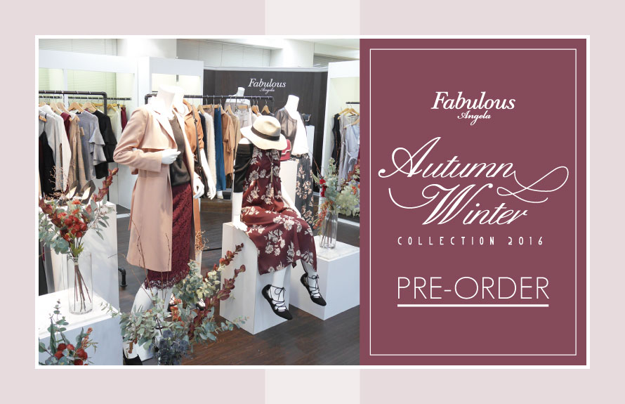 Autumn Winter COLLECTION 2016 PRE-ORDER