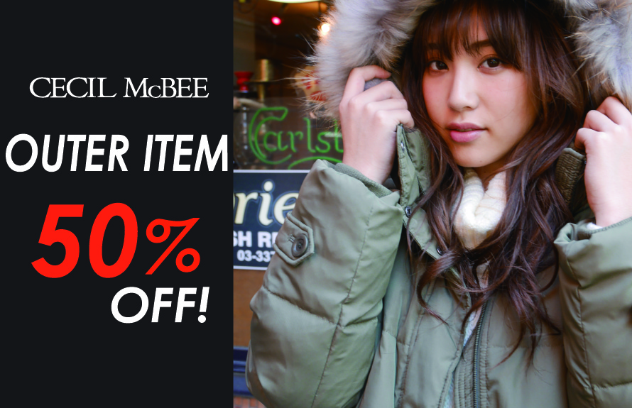 TIME SALE OUTER 50%OFF