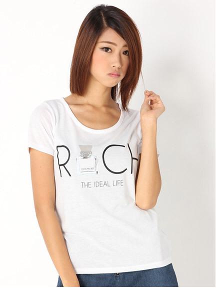 商品画像:香水プリントロゴTシャツ香水プリントロゴTシャツ(ホワイトM)3125407440101