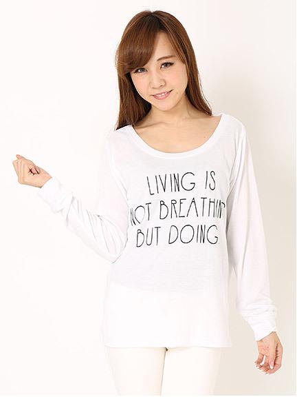 商品画像:LIVING ロゴロンTLIVING ロゴロンT(ホワイトM)3125901240101