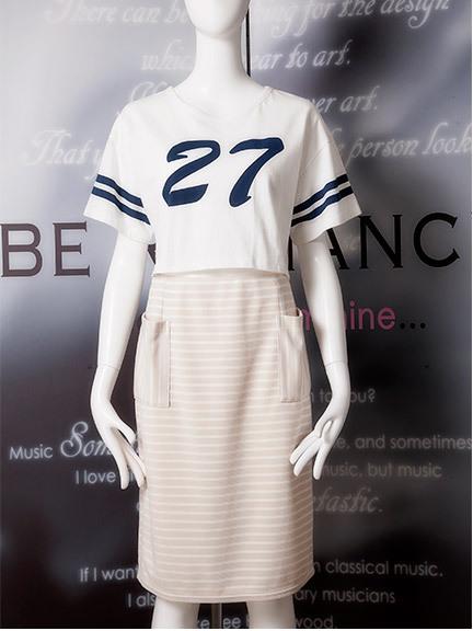 商品画像:27ナンバー短丈Tシャツ   27ナンバー短丈Tシャツ(ホワイトF)235252085001