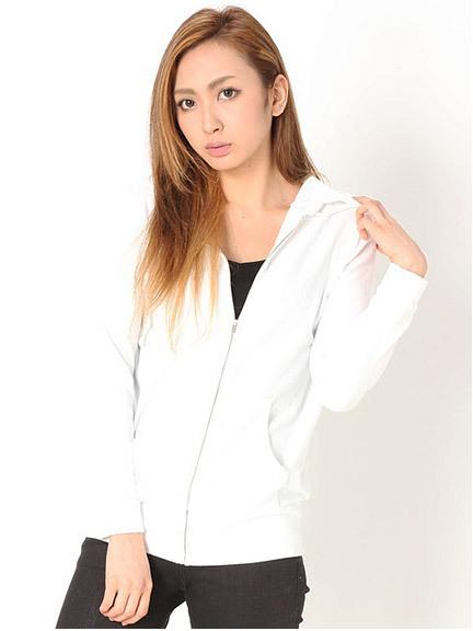 商品画像:袖刺繍パイルパーカー袖刺繍パイルパーカー(ホワイトF)3525307640001