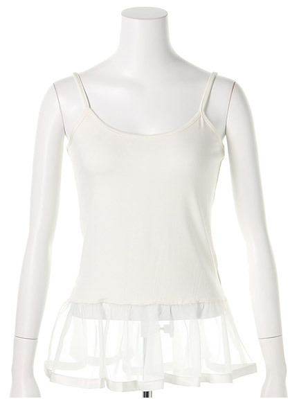商品画像:シアーフリル裾キャミシアーフリル裾キャミ(ブラックF)3525505340080