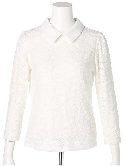 商品画像:衿付き起毛レーストップス衿付き起毛レーストップス(ホワイトF)3510501740001