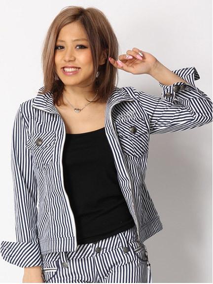 商品画像:セットアップストライプ刺繍ジャケットセットアップストライプ刺繍ジャケット(ネイビーM)3838101540152