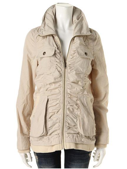 商品画像:シャーリングミリタリージャケットジャケット(ベージュM)3815144440130