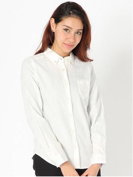 商品画像:ボタンダウンコットンシャツボタンダウンコットンシャツ(サックスM)233111416153