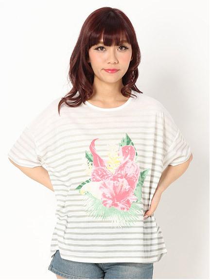 商品画像:リゾートボーダーTシャツリゾートボーダーTシャツ(グレーF)3325317040011
