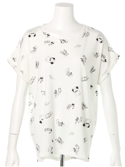 商品画像:マルチプリントTシャツマルチプリントTシャツ(ホワイトF)3325444340001