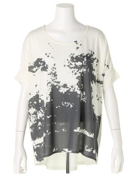 商品画像:モノクロプリントTシャツモノクロプリントTシャツ(ブラックF)3325454140080