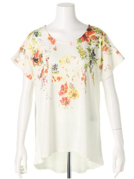 商品画像:フラワープリントTシャツフラワープリントTシャツ(グレーF)3325454240011