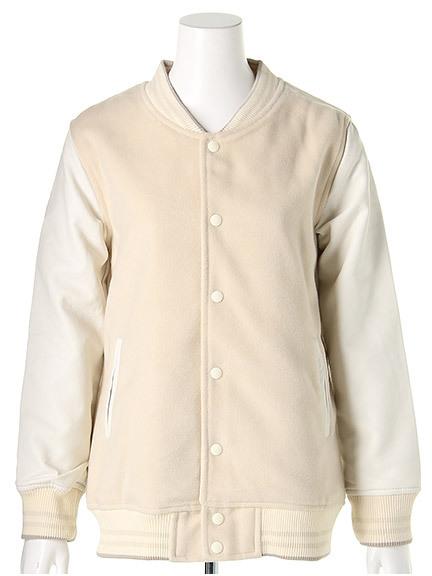 商品画像:リブライン中綿スタジャンリブライン中綿スタジャン(アイボリーF)3316406040002