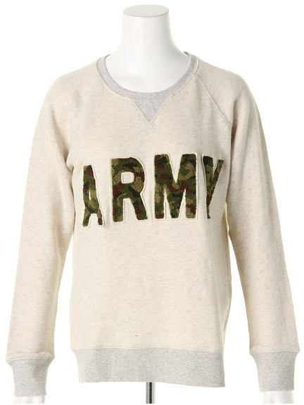商品画像:ARMYもこワッペンプルオーバーARMYもこワッペンプルオーバー(アイボリーM)3325548740102