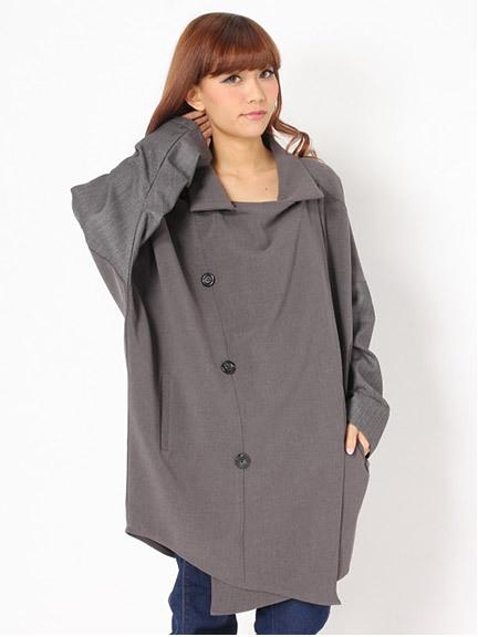 商品画像:袖異素材ゆるコート袖異素材ゆるコート(ブラックM)237411025180
